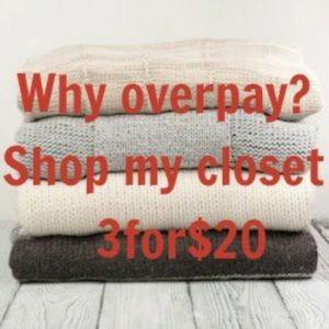 3for$20 SALE! JEANS SWEATERS BLOUSES